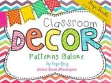 Classroom Decor Mega Bundle: Patterns Galore {WHITE}