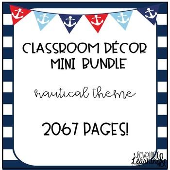 Classroom Decor Mini Bundle Nautical Theme