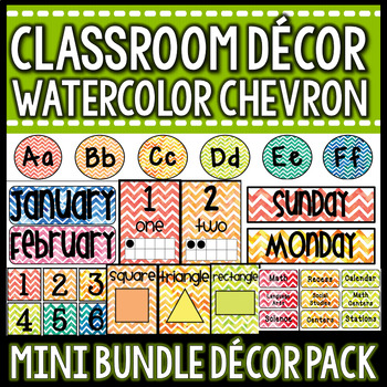 Classroom Decor-Watercolor Chevron