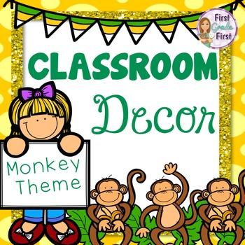 Classroom Decor Monkey Theme