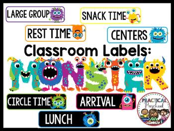 Classroom Decor {Monster Labels}