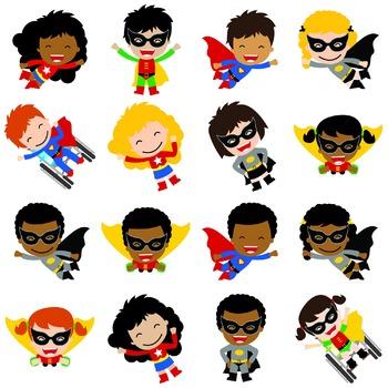 Classroom Decor Multi-Cultural Superhero Cut Outs - Bundle