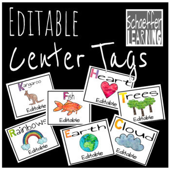 Classroom Decor: Nameplates, Center Tags, Schedule, Table Groups-Rainbow Theme