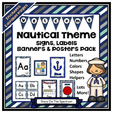Classroom Decor (Nautical Posters, Signs, Labels and Banners)