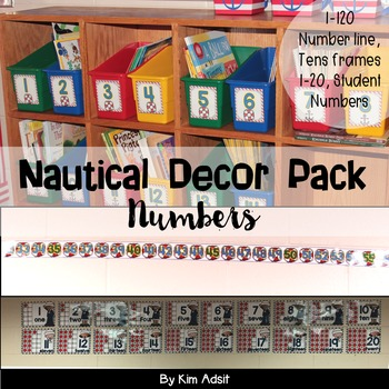 Classroom Decor Nautical Theme - Numbers by Kim Adsit
