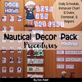 Classroom Decor Nautical Theme - Procedures by Kim Adsit
