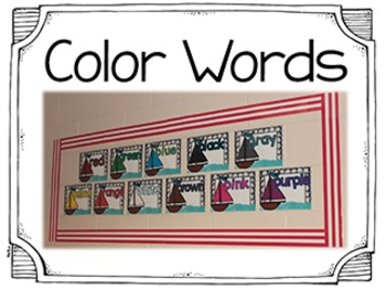 Classroom Decor Nautical Theme - Words and Letters by Kim Adsit