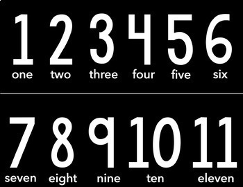 Number Line Bulletin Board Set 1- 120 - Four Styles to Choose From