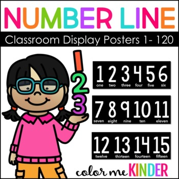 Classroom Decor Number Line 1- 120 (4 styles to choose from)