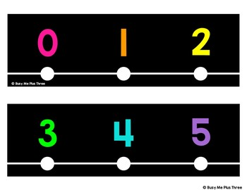 Classroom Decor Number Line Black and Bright {-100 to 250}