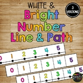 Classroom Decor Number Line & Number Path BRIGHT AND WHITE {-100 to 300}