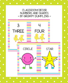 Classroom Decor - Numbers (1-10) and Shapes