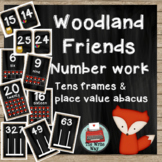 Classroom Decor - Numbers  - Woodland Friends Theme