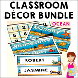 Classroom Decor Ocean Theme Bundle