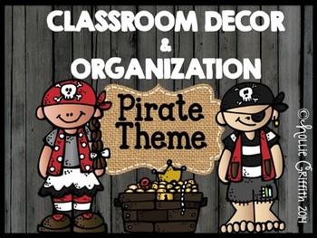 Classroom Decor & Organization: Pirates