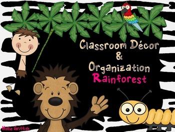 Classroom Decor & Organization: Rainforest