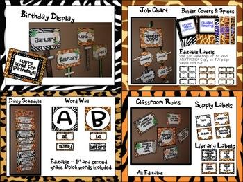 Classroom Decor & Organization: Sassy Safari, Jungle Jivin, Rockin' Rainforest