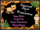 Classroom Decor & Organization: Sassy Safari, Jungle Jivin
