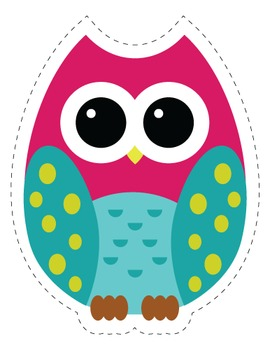 Classroom Decor: Owl Themed Cut Out Decorations