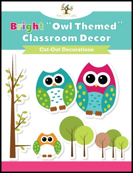 Classroom Decor Owl Themed Cut Out Decorations
