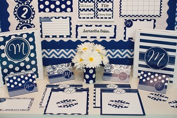 Classroom Decor Oxford Blue - Full Collection Bundle