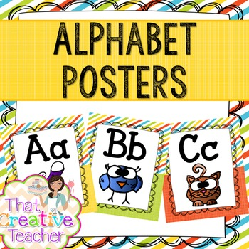 Classroom Decor Pack - Alphabet/Number/Color/Weather Posters