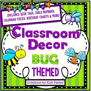 Classroom Decor Pack- BUG Themed
