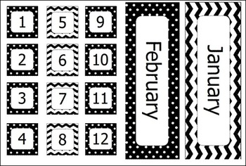 Classroom Decor Pack - Black and White Design