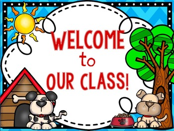 Classroom Decor Pack- DOG Themed