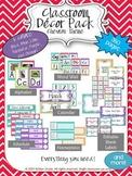 Chevron Classroom Decor Bundle (Editable)