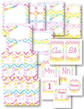 Classroom Decor Pack-Rainbow Watercolor