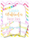 Classroom Decor Pack-Rainbow Watercolor