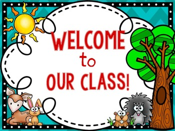 Classroom Decor Pack- FOREST CRITTER Themed