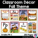 Classroom Decor Pack - Fall Theme