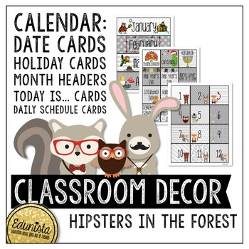 Classroom Decor Pack - Hipsters in the Forest