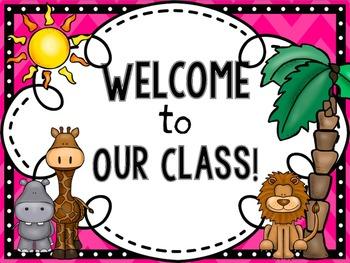 Classroom Decor Pack- SAFARI Themed