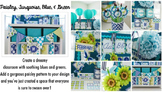 Classroom Decor Paisley, Turquoise, Blue & Green - Full Co