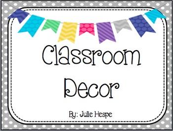 Classroom Decor - Pattern