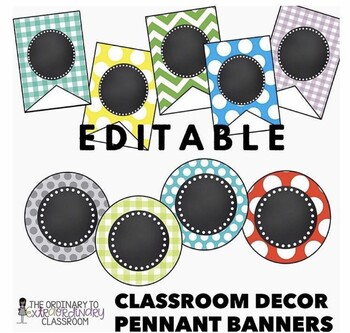 Classroom Decor Pennant Banners