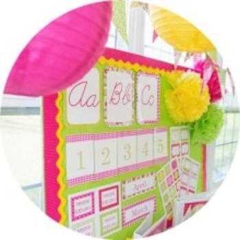 Classroom Decor Pink Paisley Pop - Full Collection Bundle