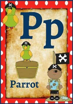 Classroom Decor- Pirate Themed Alphabet Posters