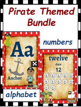Classroom Decor- Pirate Themed Bundle