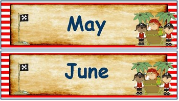 Classroom Decor- Pirates Themed Calendar