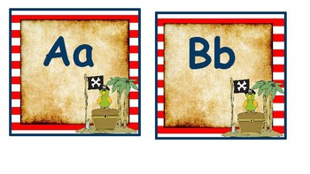 Classroom Decor- Pirates Themed Word Wall Labels