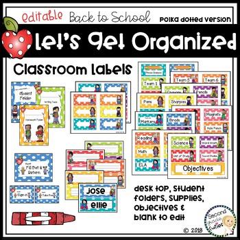 Back to School Start up - Classroom Management Polka Dot Decor