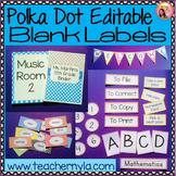 Classroom Decor Polka Dot Border Editable Labels