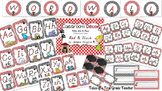 Classroom Decor-Polka dots and Paws {D'Nealian Font & editable files included}