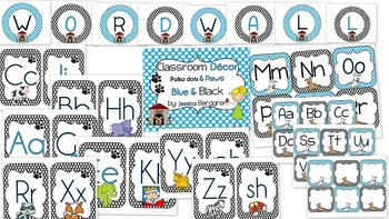 Classroom Decor-Polka Dots and Paws {Editable/Spanish & En