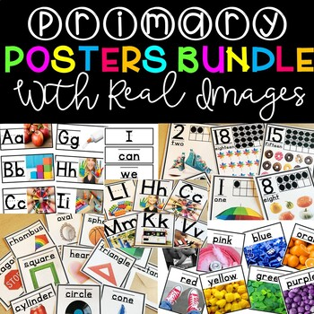 Classroom Decor Posters with Real Pictures BUNDLE