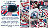 Classroom Decor Preppy Nautical Red and Navy - Full Collection